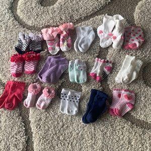 Bundle of baby girl socks!